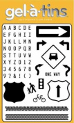 Gel-a-tins Build-Your-Own Traffic Signs Stamp