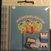 """Tapestry 20cm X 20cm Look Out World...Here I Am"""" New Baby Complete Scrapbook Kit"""