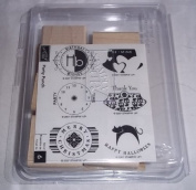 Stampin Up Darling Dots Set of 8 Wooden Mount Rubber Stamps