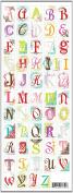Jillson Roberts Clear Stickers, Elegant Alphabet, 12-Sheet Count
