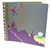 Mr. Ellie Pooh 30cm x 30cm Elephant Dung Paper Scrapbook - Dark Green