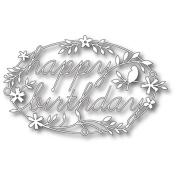 Happy Birthday Tidings Die Cut Template // Memory Box