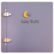 Baby Feats Scrapbook Journal by Jack Scrapbooks - Blue