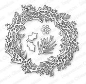 Impression Obsession io Steel Die Set DIE023-X Twig Wreath Pine Needles Holly Berries US American Made