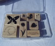 Stampin Up Garden Whimsy Rubber Stamps Set of 8