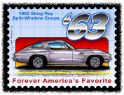 Stingray Postage Stamp Series - 1963 Sting Ray Split-Window Coupe