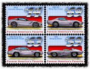 Stingray Postage Stamp Series - Block of Four