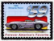 Stingray Postage Stamp Series - 1959 Stingray Racer