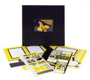 Tapestry by CR Gibson University of Michigan Complete Scrapbook Kit, Collegiate Edition