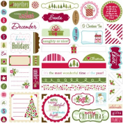 Bella Blvd Label Additions December Details Cardstock Stickers