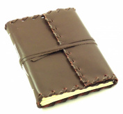Rustic Ridge Leather Journal - Handmade - 13cm x 18cm - Dark Brown