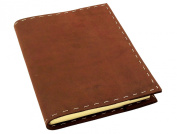 Rustic Refillable Leather Sketchbook with Handmade Paper - 15cm x 20cm - Dark Brown