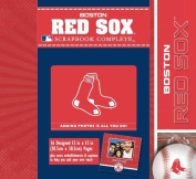 CR Gibson Tapestry Complete Scrapbook Kit, Boston Red Sox