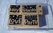 Stampin Up Word Play Rubber Stamps Set of Six