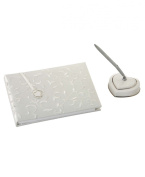 Lenox Wedding Promises Opal Opulence Guest Book with Pen, Pen Holder and Bookmark