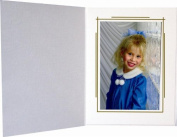 Cardboard Photo Folder for a 4x6 Photo - Kremlin white- Pack of 50