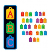 Sizzix Alphabars Dies - Doodle Tag Uppercase Alphabet 9 Steel Rule Dies