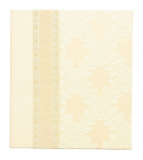 Molly West 2099 Archival-Quality 120-Photo-Capacity Memory Album with Swiss-Brocade and Silk Cover, Champagne Wedding
