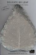 SILVER BO LEAF - Pack of 100 skeleton leaves