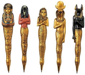 15cm Ancient Egyptian Sculptures Collectible Pens - Set of 5