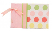Molly West 2039 Hardbound 25-Paper-Page Memory Album with Brocade Cover, Small, Pink Polkalots