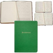 BRIGHTS-GREEN Fine Leather 18cm Medium Travel Journal by Graphic Image -