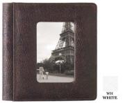 Raika WH 169 WHITE 10cm . x 15cm . Front Framed Single Photo Album - White