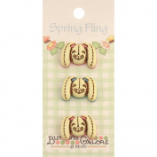 Spring Buttons-Bunny Rabbits