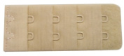 Braza Bra Back Extender 2 Hook Sp ~ Wide 2.5cm - 0.6cm Actual Length 5.1cm - 2.2cm Colour Beige Only