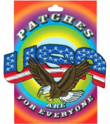 Tees & Novelties Patches For Everyone Iron-On Appliques-USA Eagle 1/Pkg