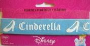 Disney Cinderella Elastic Blue w White 2.5cm Wrights