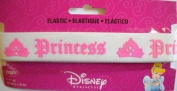Disney Princess Elastic White w Lt Pink 2.5cm Wrights