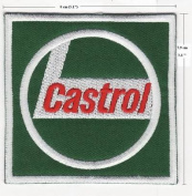 CASTROL GAS & OIL F1 RACING EMBROIDERED IRON ON PATCH T15