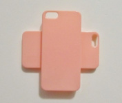 DIY Peach Hard Snap-on Cover Case for Apple Iphone 5 --- By Pixiheart