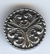 Large Tele Viking Button - Solid Pewter