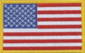 Tees & Novelties Patches For Everyone Iron-On Appliques-American Flag 1/Pkg