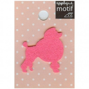 Pink Poodle Dog Design Small Iron-on Applique