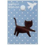 Brown Kitten Design Small Iron-on Applique