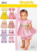 BABIES' DRESS OR JUMPER, TOP, PANTALOONS & BOLERO SIZE A