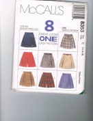 Misses Skorts with Variations Sizes 14-16-18 McCalls 8 Great Looks - One Easy Pattern #8353