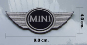 MINI COOPER EMBROIDERED IRON ON PATCH.