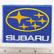 Subaru Car Racing Iron on Patch Embroidered Car Racing DIY T-shirt 5.7cm x 7.6cm