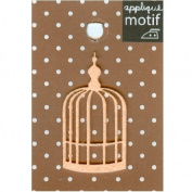 Bird Cage Design Small Iron-on Applique