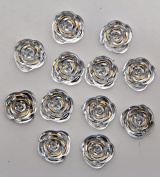 40-Piece Flat Back Acrylic ROSE Rhinestones 15mm, Crystal Clear