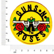 "NEW "" GUNS'N ROSES"" EMBROIDERED IRON ON / SEW ON PATCHES DIAMETER 6.8 cm. FROM THAILAND [E.P.18]"