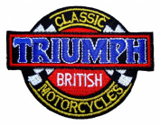 Triumph British Classic Motorcycles Emblem Jackets BT24 iron on Patches