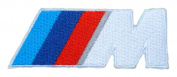BMW Series M Power Motorsport Logo White Clothing Iron on Patches PB32