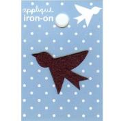 Bird Design Small Iron-on Applique