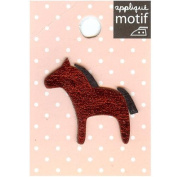 Red Horse Design Small Iron-on Applique