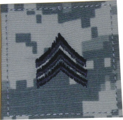 1762 ACU Digital Camouflage Sergeant Insignia hook and loop Patch